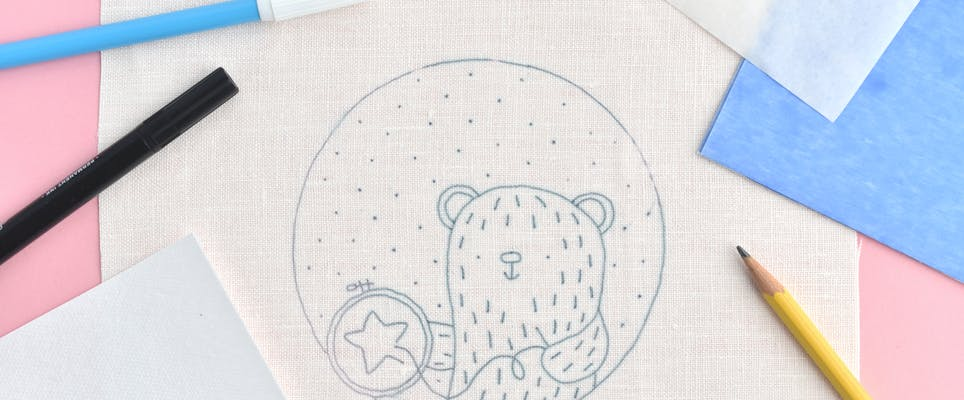 embroidery pattern on fabric
