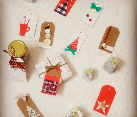 DIY gift tags by Mom Das