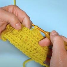 Crochet puff stitch step 6
