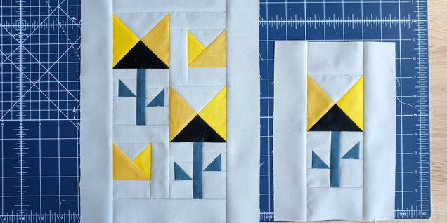 Quilt Block Assembly The Weekend Quilter step 1