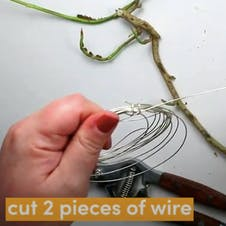 Step 2 - cut 2 pieces of wire