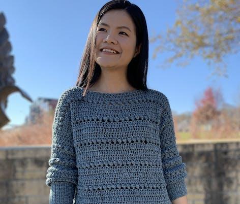 Kntcroaddict bead sweater