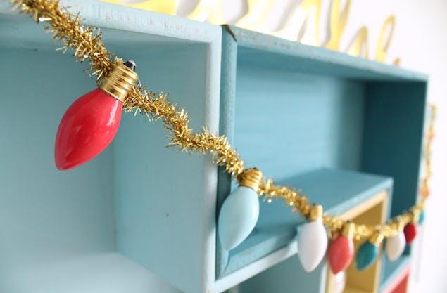 DIY vintage Christmas lights