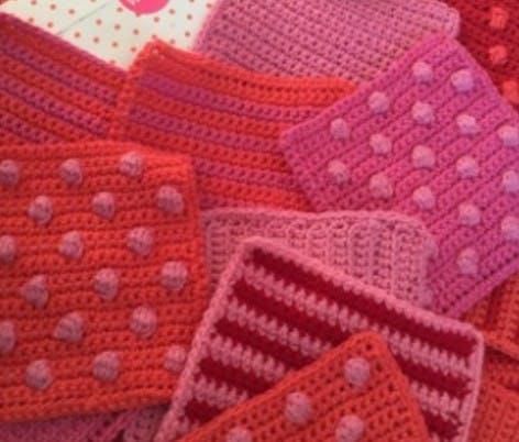 jenny's blanket donated crochet blanket squares