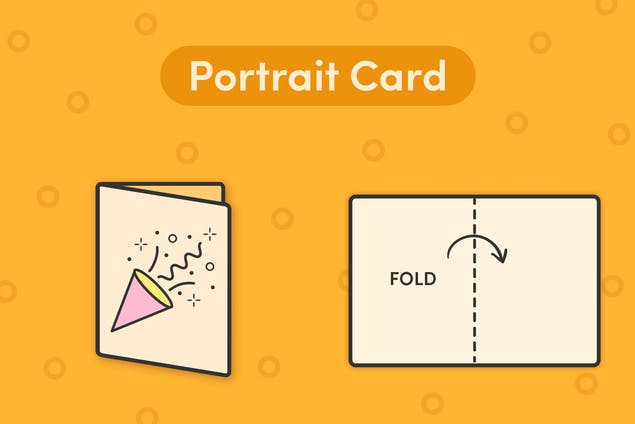 How to fold a portrait card
