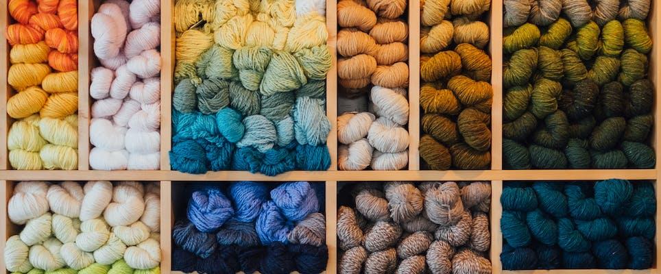 Knitting and crochet storage