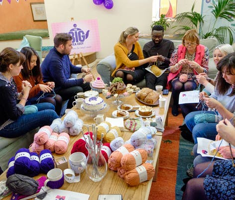 big tea cosy breast cancer haven