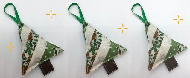 DIY Quilted Christmas tree ornaments