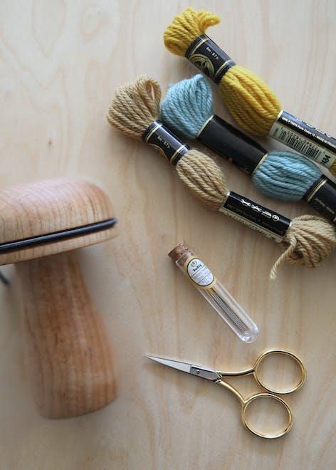 Darning weave method materials