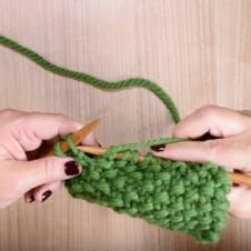 moss stitch row two