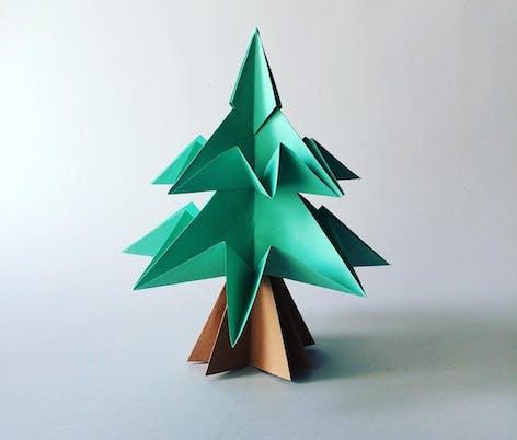 Papercraft Christmas Tree from Creaky Hearts