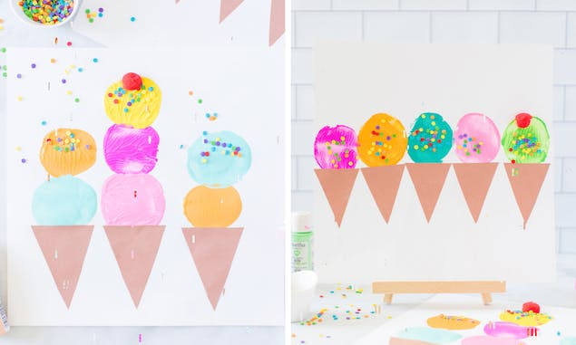 painted ice creams for kids craft