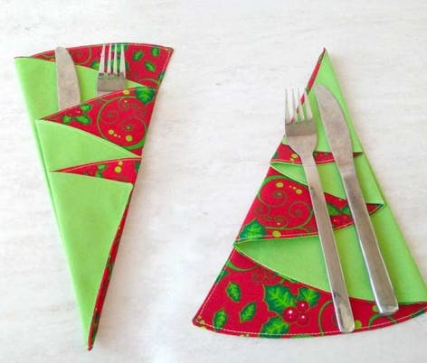Christmas tree shaped napkins
