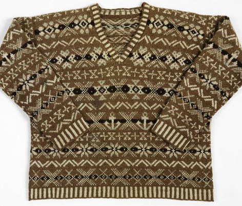 Shetland jumper from V&A