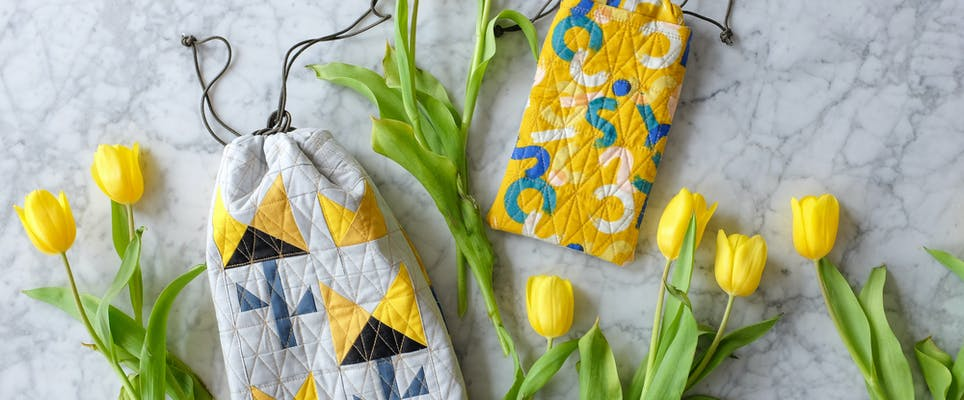 Springtime bags by The Weekend Quilters