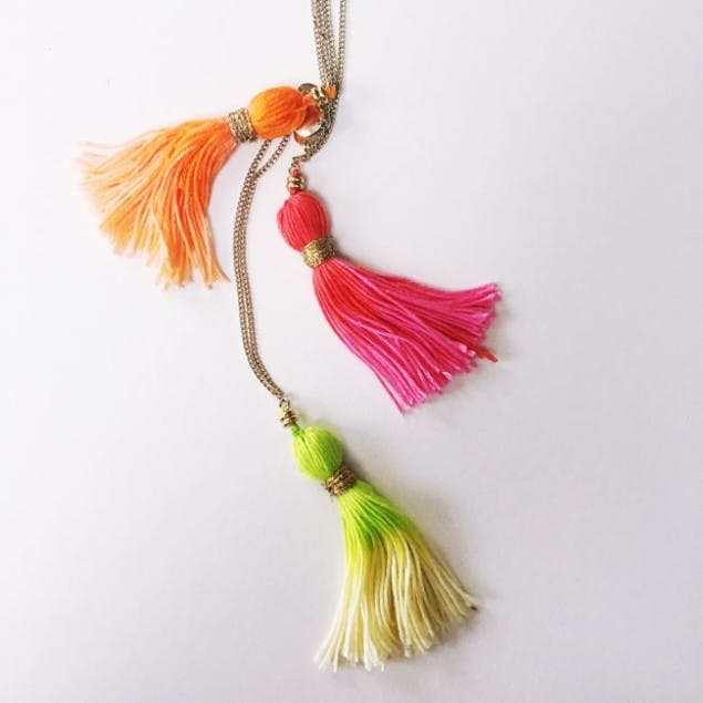 How to make a tassel necklace free tutorial by christine leech