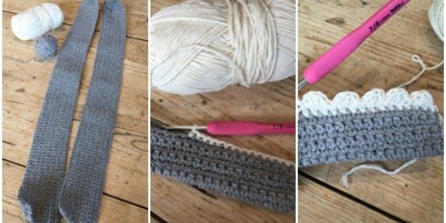 Crochet shoulder straps for bag