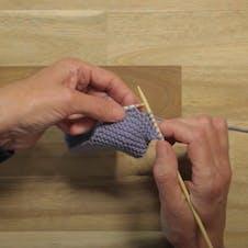 Eyelet buttonhole step 1