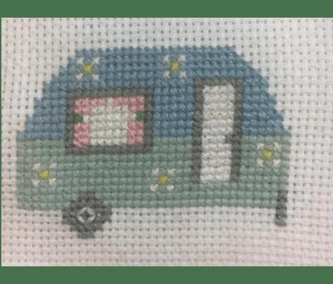 Caravan cross-stitch
