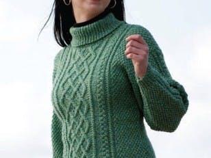 Lattice Knit Sweater & Hat in Cascade 220 Superwash - W210