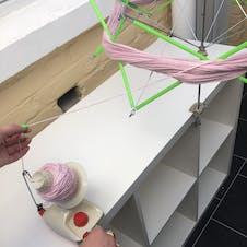 creating yarn ball with yarn winder