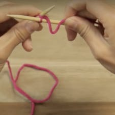 finish your first knit stitch