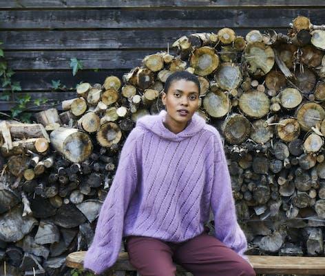 Nina sweater knitting pattern by Debbie Bliss