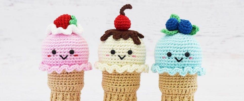 crochet amigurumi ice cream