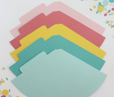LoveCraft cardstock party hat templates