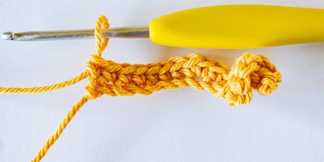 crochet unicorn tail step 2