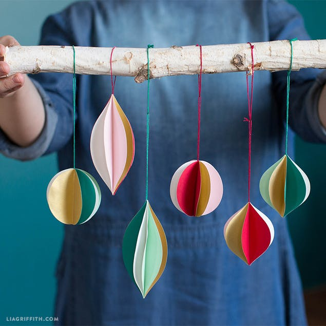 3D DIY Christmas papercraft ornaments