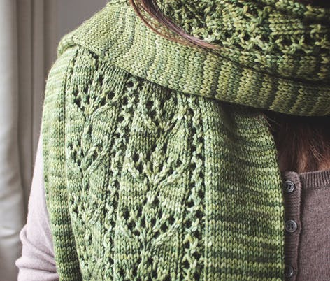 Tamarisk Scarf - Scarf Knitting Pattern by Cheryl Eaton