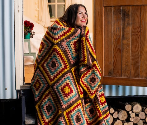Fall afghan crochet pattern