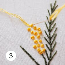 Mimosa pattern step 3