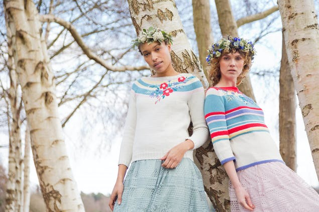 MillaMia Midsummer collection sweater patterns