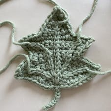 Adding veins to your crochet leaves