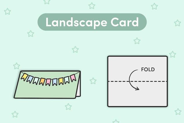 Landscape card fold