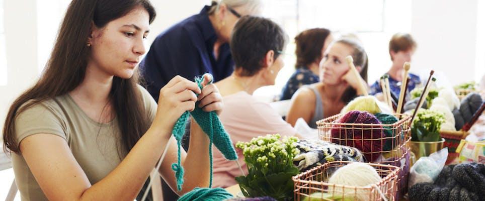 knitting workshop - knitting together