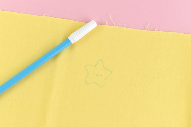 embroidery pattern in disappearing ink pen
