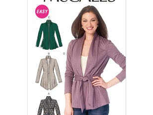 McCall's Misses' Jackets and Belt M6996 - Sewing Pattern