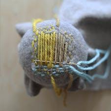 Darning weave method step 6