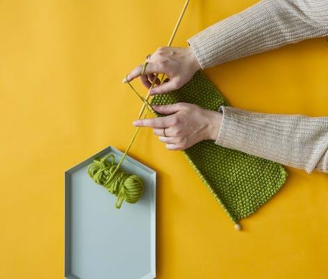 moss stitch knitting