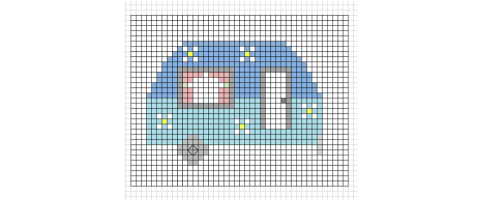 How to design a cross-stitch chart on your computer