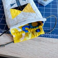 Adding drawstring to the bag