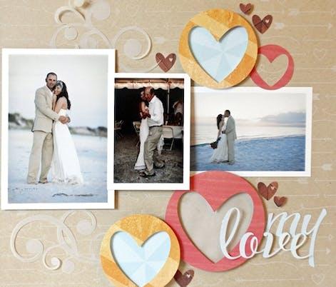 Beach wedding scrapbook idea