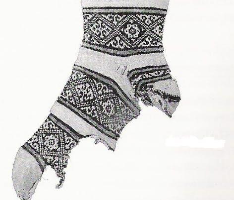 Arabic knitting sock