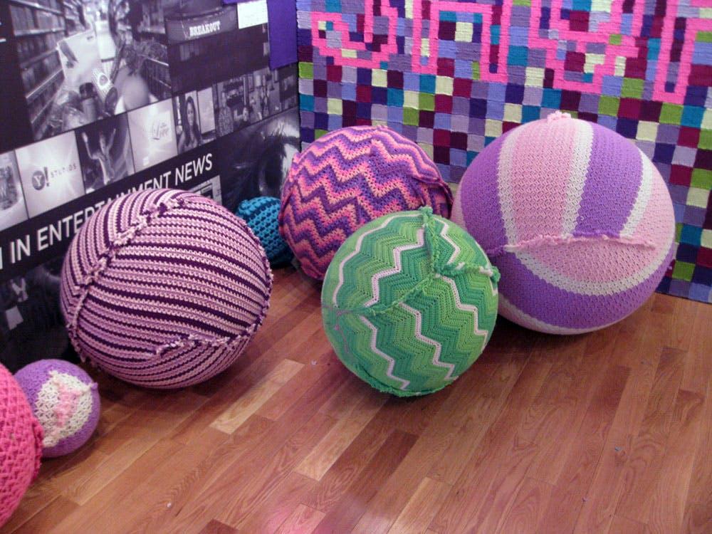 Utah, USA Sundance film festival yarn bomb sponsored by yahoo