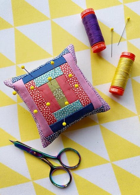 quilted pin cushion design
