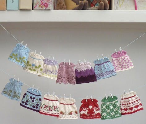 seasonal dresses knitting pattern for toys by little cotton rabbits