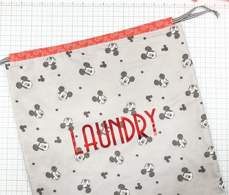 drawstring diy laundry bag